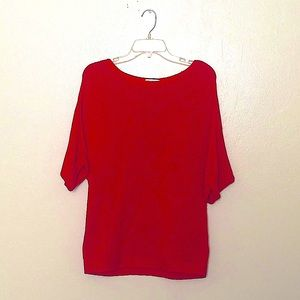 H&M Bright Red Knit Dolman Sweater